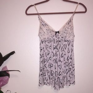 VS soft Lacey babydoll lingerie pajama top
